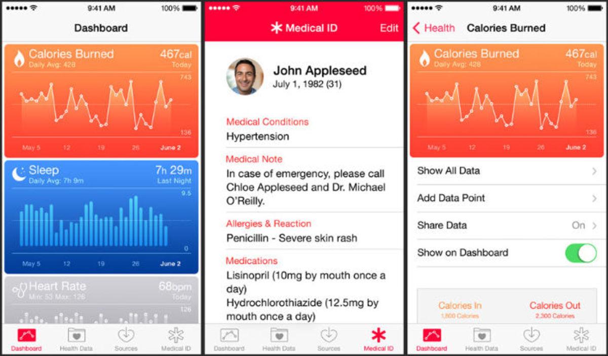 applications iOS santé