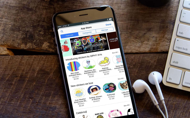 iPhone avec des appli