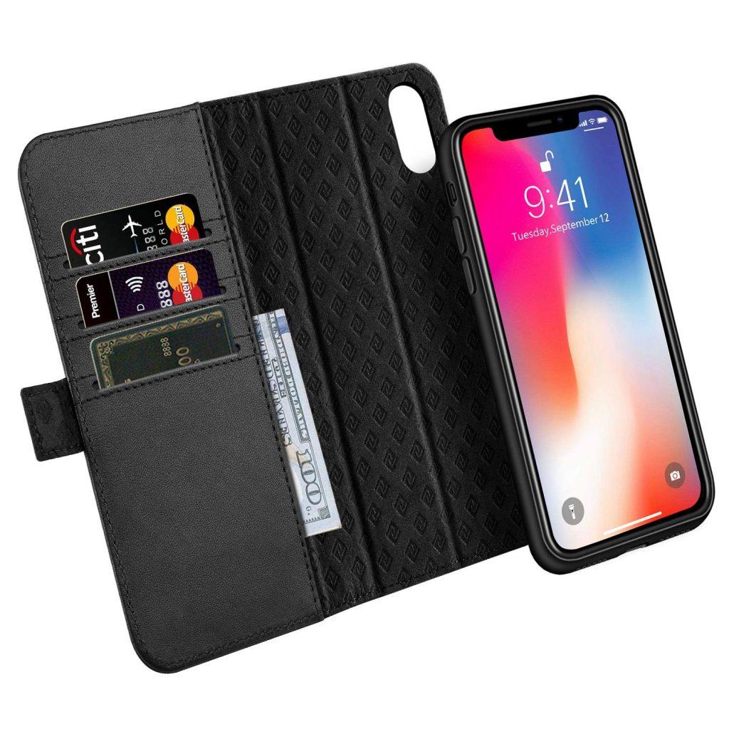 étui portefeuille Zover pour iPhone X