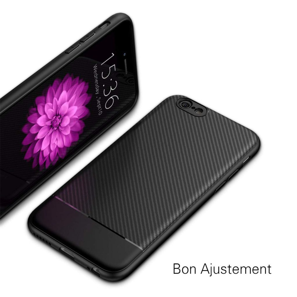 coque iPhone 6 Plus fibre de carbone Jecent