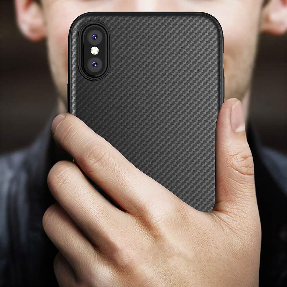 coque iPhone X imitation carbone de Yokase